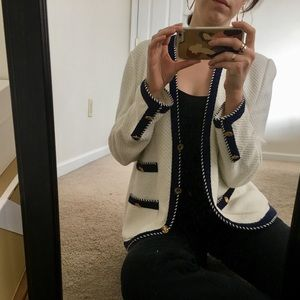 Chanel Style Vintage Cardigan